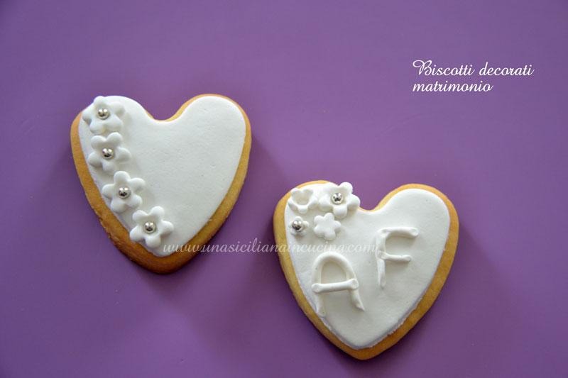 Ben noto Biscotti decorati matrimonio-Una siciliana in cucina JX31